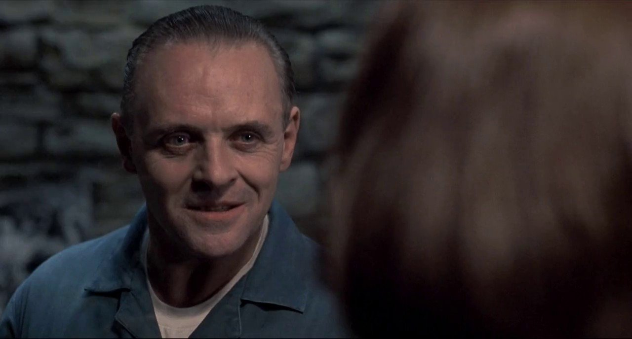 look into the eyes of the silence of the lambs