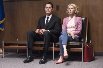 Kyle MacLachlan and Naomi Watts in a still from Twin Peaks. Photo: Suzanne Tenner/SHOWTIME